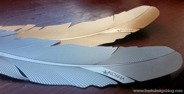 Kosha feathers used as art