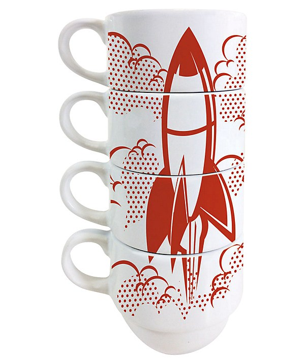 Jamie Oliver Rocket design stacking coffee cups