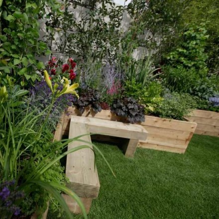 Make a raised bed from decking