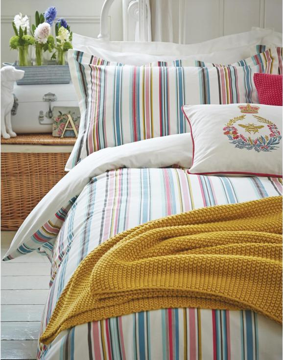 Gender neutral stripe bedding