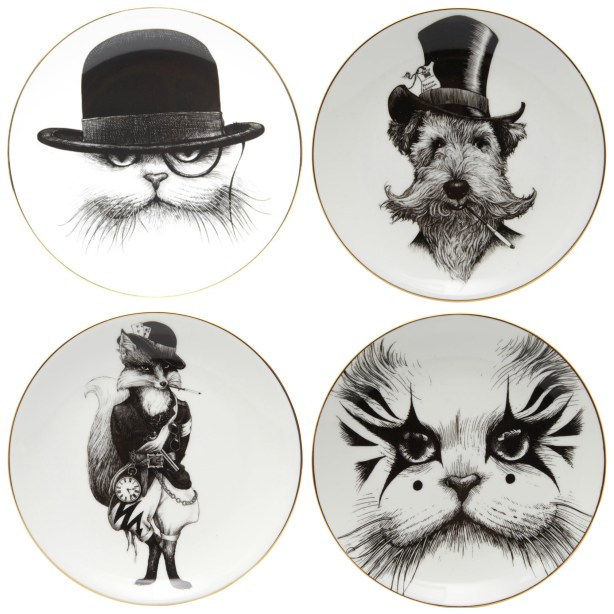 Characterful plate designs by Rory Dobner