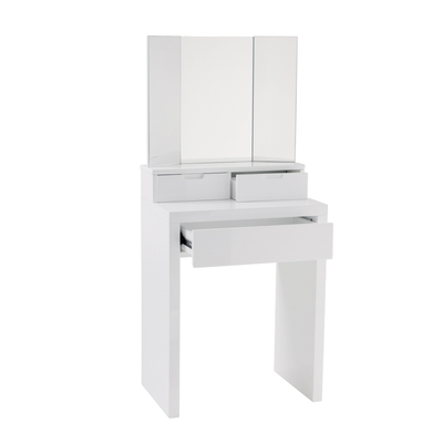 Contemporary compact small dressing table