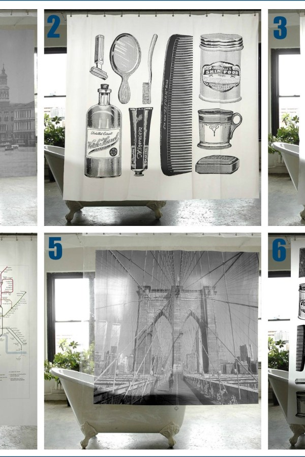 Stylish city shower curtains and more from Men's Society