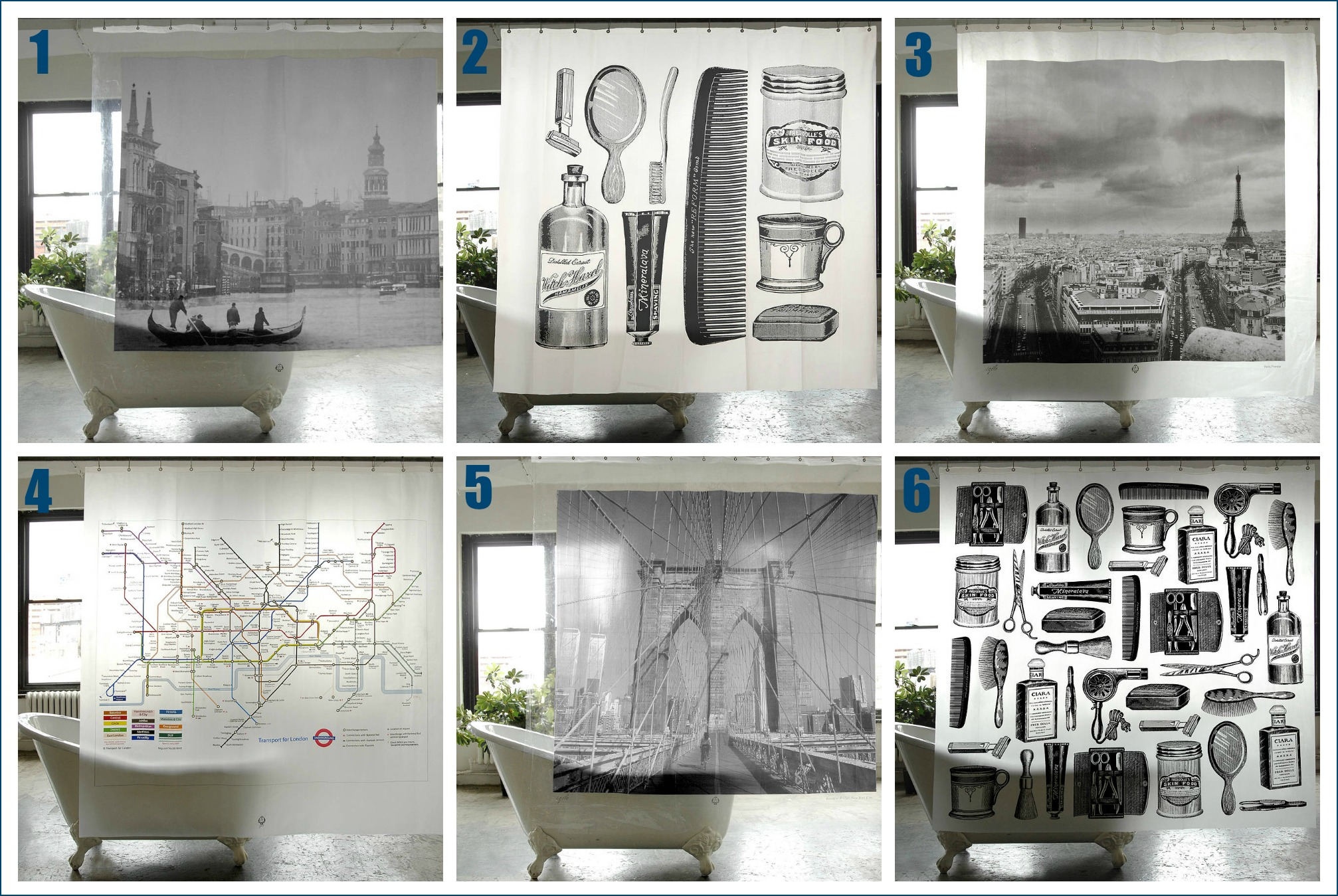 Stylish city shower curtains and more from Men\'s Society ~ Fresh ...