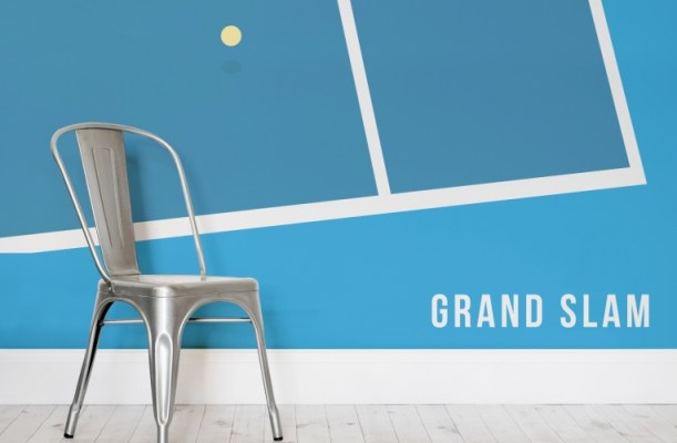 Tennis themed feature wall ideas