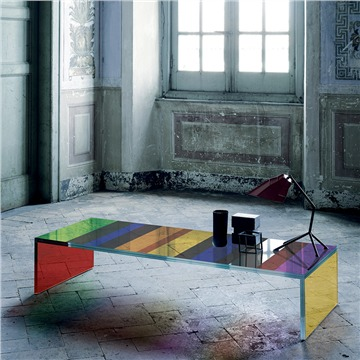 The Dark Side of the Moon: Funky Glas Italia coffee table