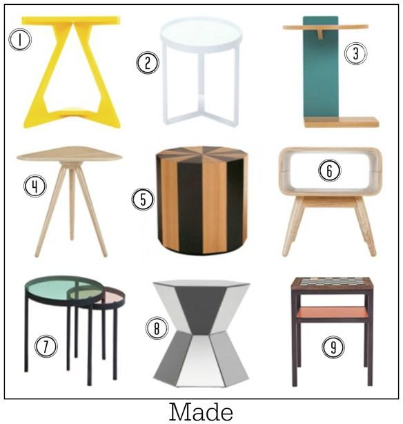 Fresh designer tables