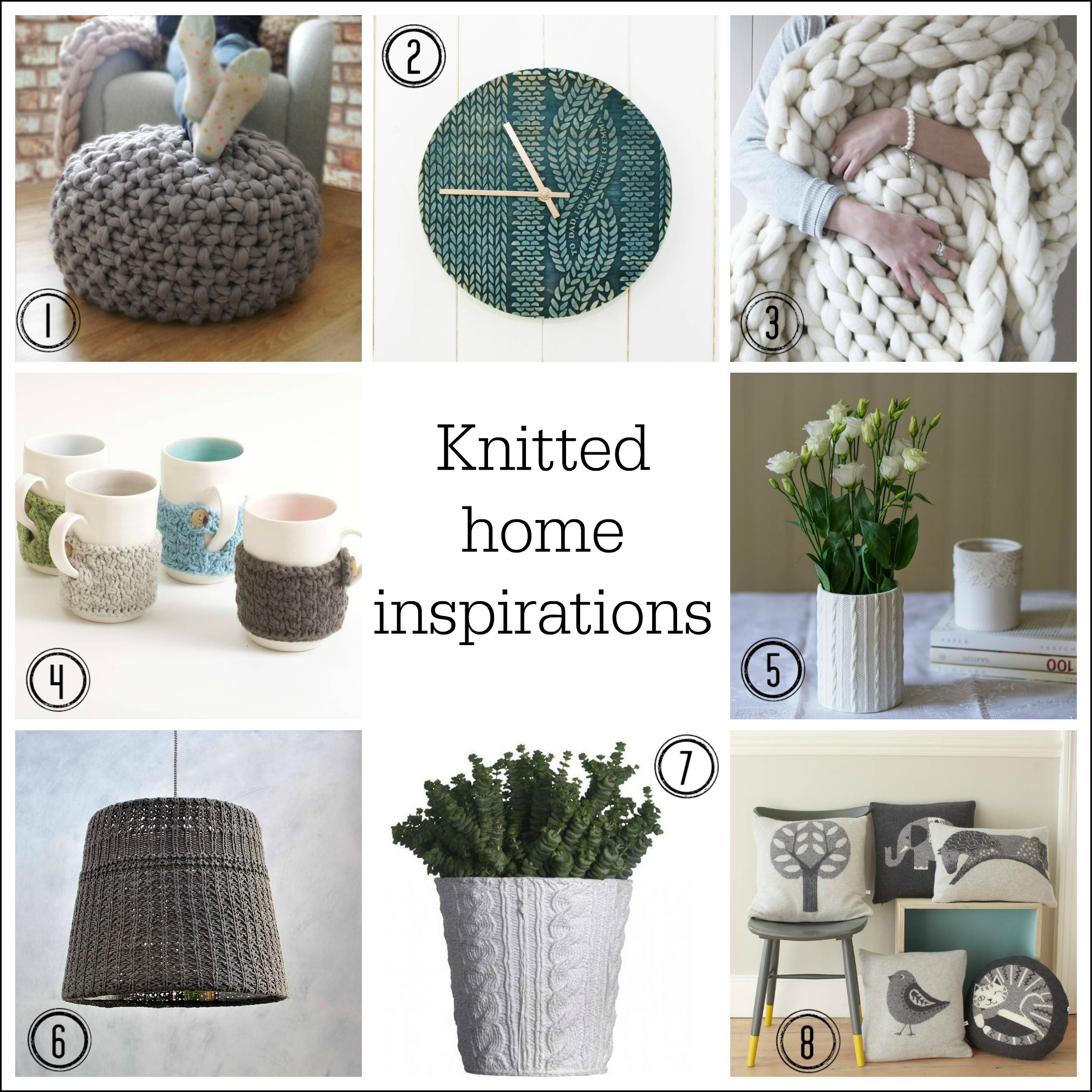 Cosy up your home with knitted style accessories ~ Fresh Design Blog