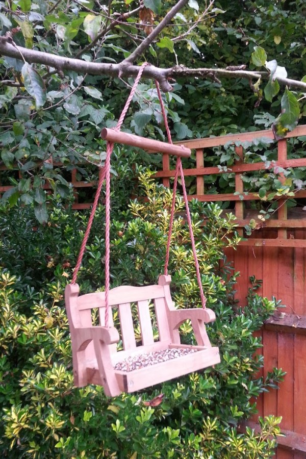 Feed the birds: Swing seat bird feeder from The Orchard