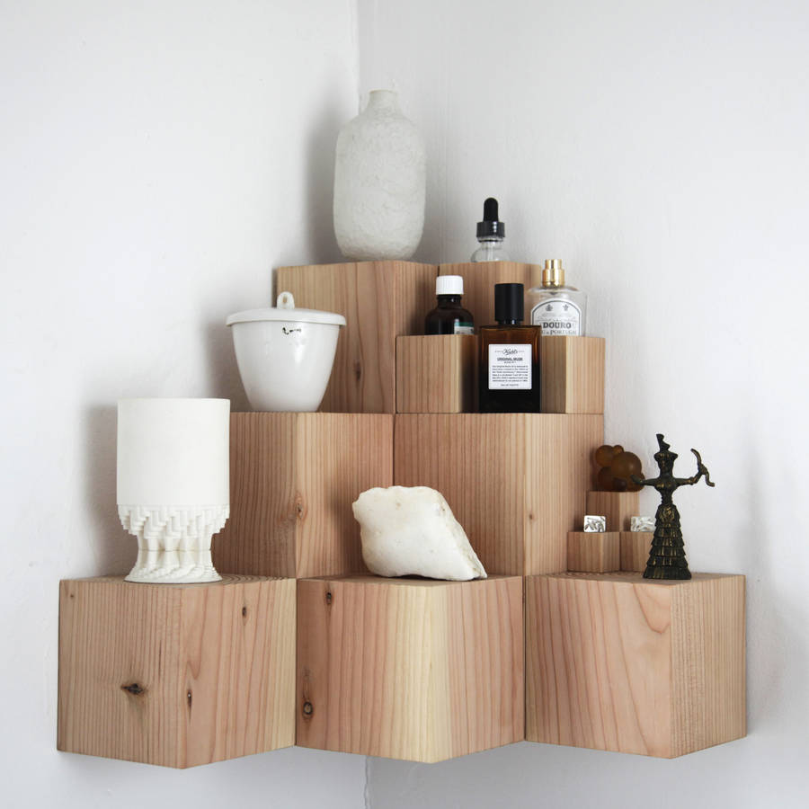 Quirky wall shelves for distinctive storage fresh design blog quirky wooden multi tier shelf unit from i love retro amipublicfo Images