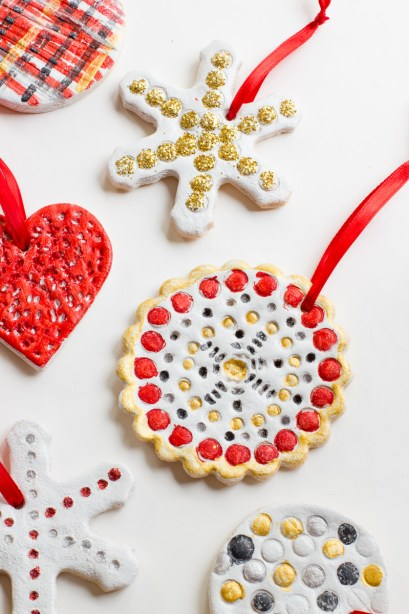 Colourful salt dough Christmas decorations to make at home (by Cassie at Back To Her Roots)