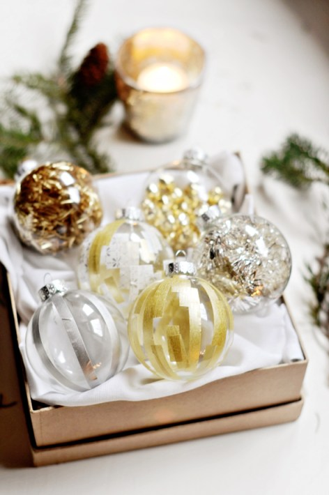 Who knew washi type could be so effective? Love these decorated bauble designs.
