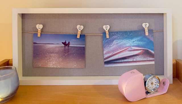 Use postcards or pictures to inspire home colour decoration ideas, like these with their Pantone colours