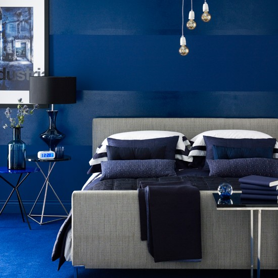Get the winter blues: Decorating with deep blue and indigo