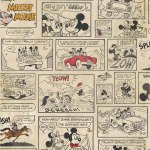 Super cute vintage style comic cartoon wallpaper featuring Mickey and Minnie mouse.
