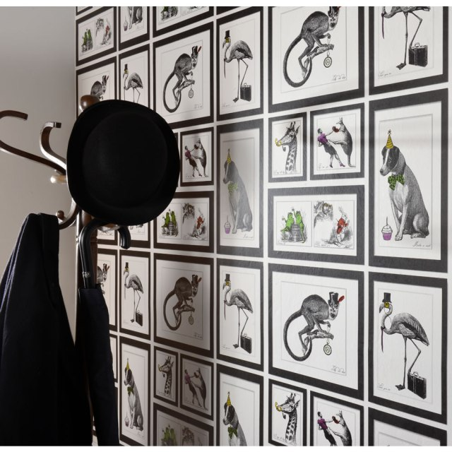Love this quirky Holden mad dogs wallpaper. It's aims to present British eccentricities and does so with style and charm
