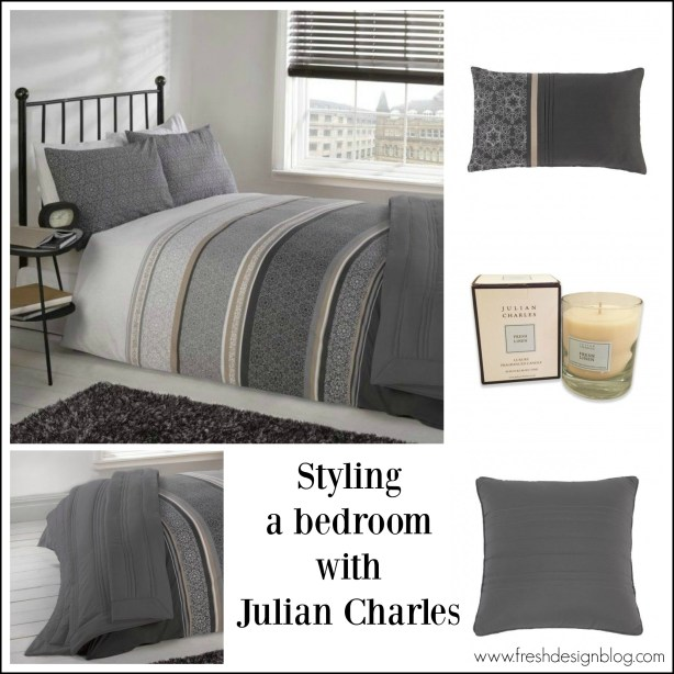Contemporary grey bedroom scheme - classic, easy-on-the-eye colours and fresh crisp linens