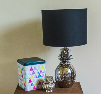 Love this modern chrome pineapple design lamp - and especially the affordable price tag!