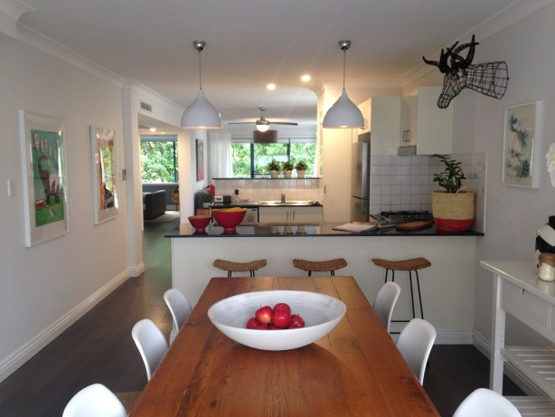 An open plan kitchen diner is perfect for a family home.