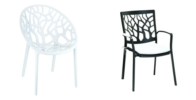 Contemporary design leaf and tree chairs from Harley and Lola. Ideal for use in the garden or conservatory.
