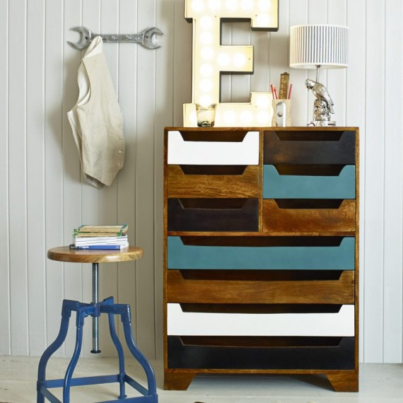 Wouldn't this make a fab way to store clothes? The mix of large and small drawers gives plenty of scope and they're designed to be easy to access.