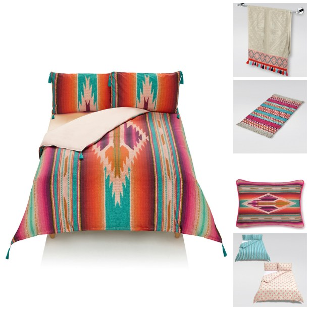 Love colour? Add these bright and cheery Peruvian design accessories to your bedroom and bathroom for a lively global style