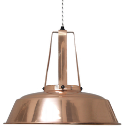 Gorgeous copper Industrial pendant light, from £130