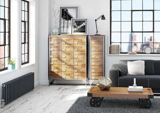Looking to create an industrial style room in your home? This furniture range is perfect.