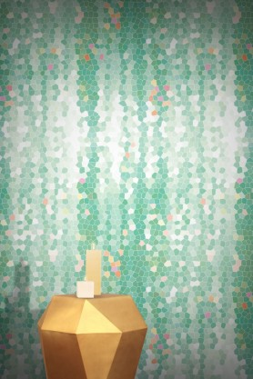Contemporary designer Feathr Firefly wallpaper in a refreshing shade of mint green
