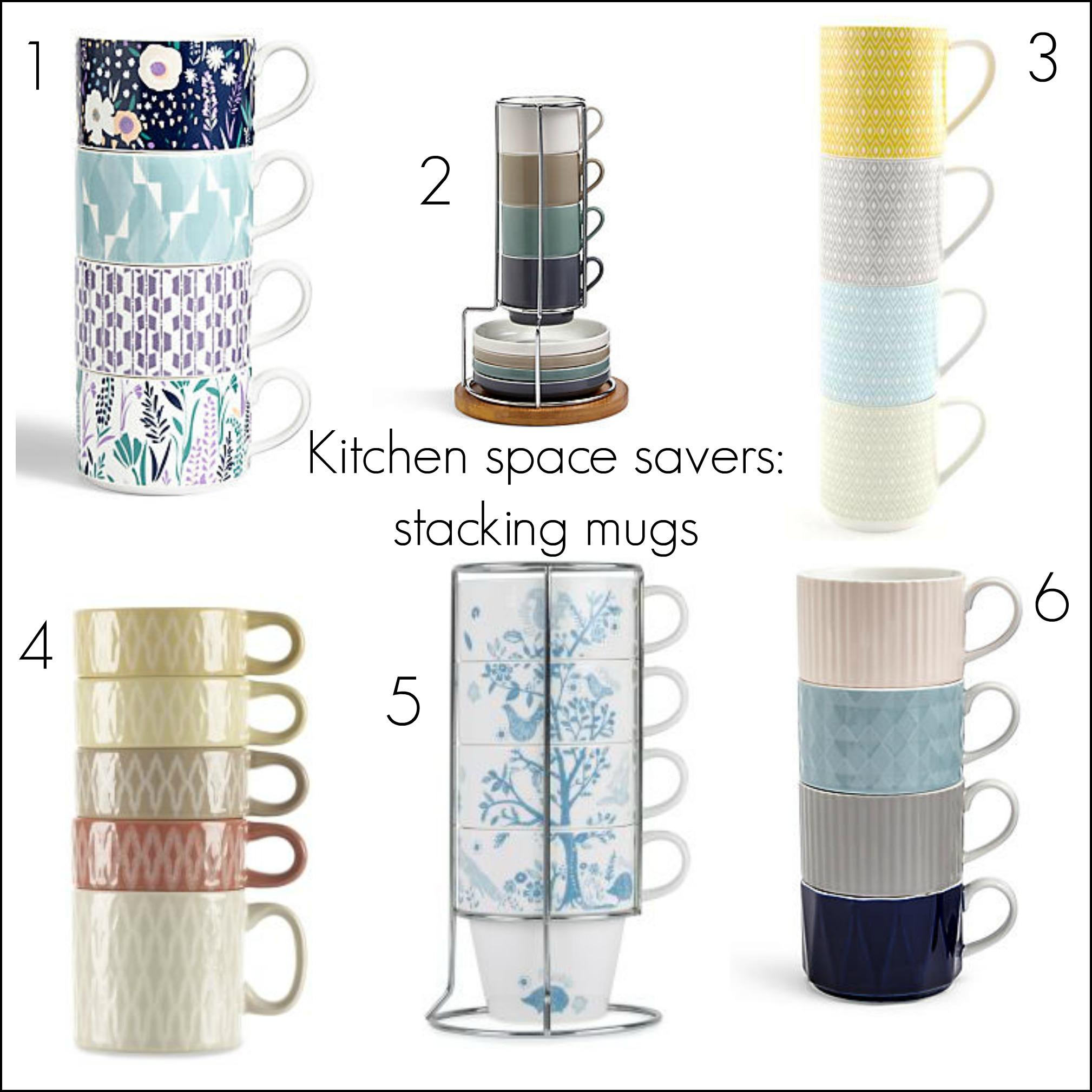 Kitchen Space Savers Kitchen Space Savers Affordable Ceramic Stacking Mug Sets Fresh