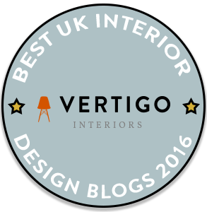 Fresh Design Blog awarded a place in the Vertigo Interiors Best UK Interior Design Blogs 2016