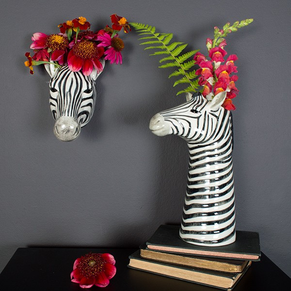 What's not to love about a zebra vase? It's super fun and quirky!