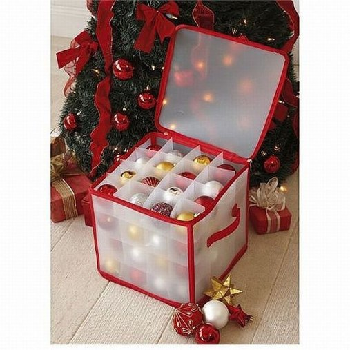 Christmas tree decoration and bauble storage box