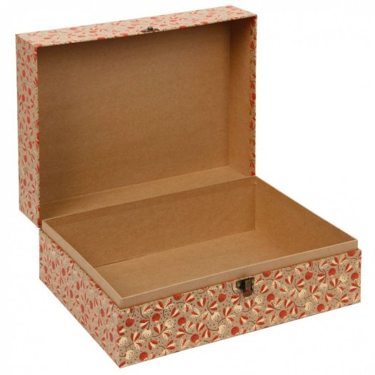 Lovely hinged storage box that is ideal for storing small special Christmas decorations