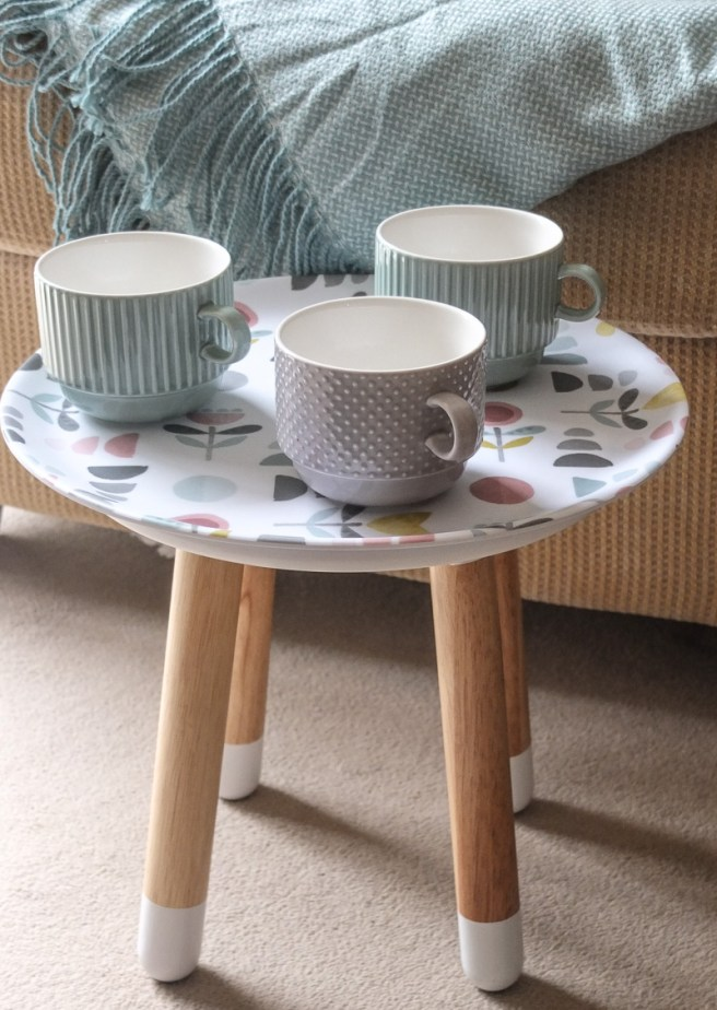 Ethereal design round try and mugs from Sainsbury's, styled by Fresh Design Blog