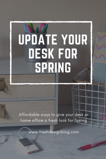If your desk is looking a bit tired, why not refresh it for Spring with a new update? It needn't be expensive, these products make it affordable.