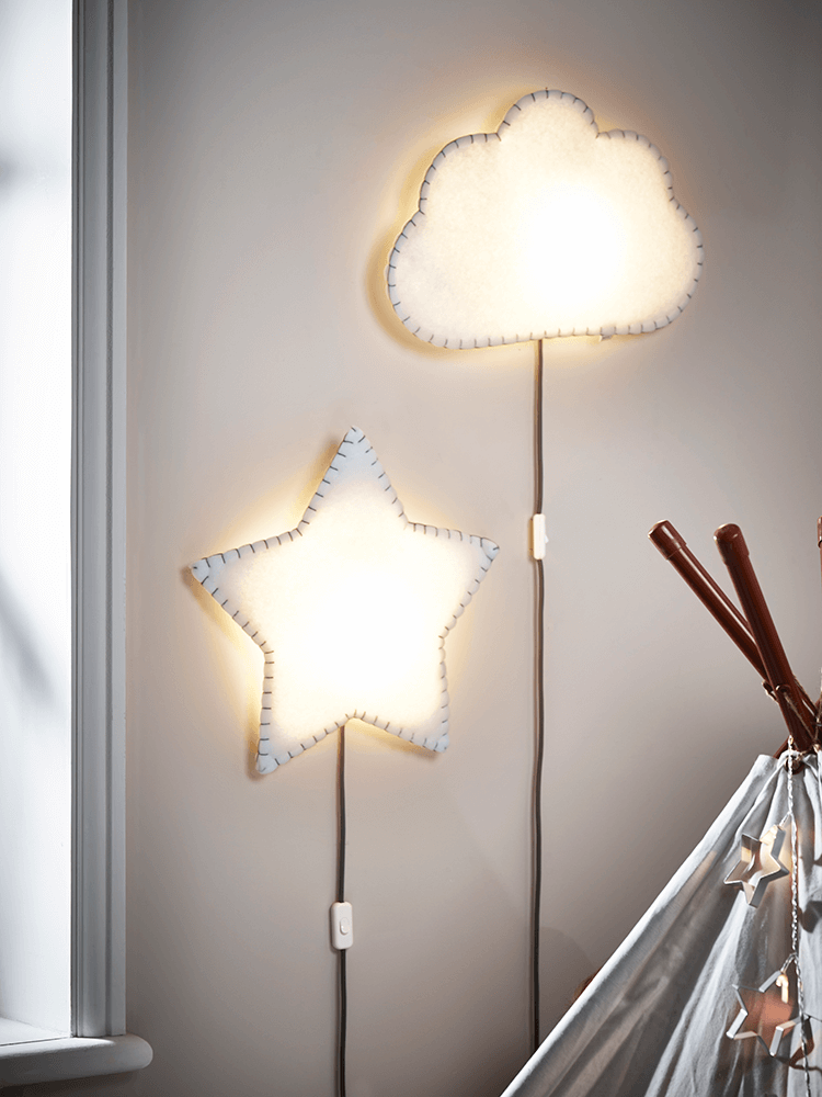 Love these quirky cloud and star design wall lights - fab statement pieces