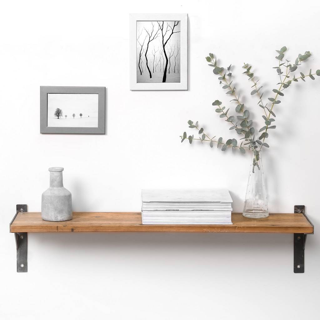 Gorgeous handmade industrial style shelf