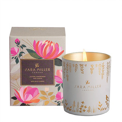 Jasmine, lemongrass and ginger designer scented candle from Sara Miller London