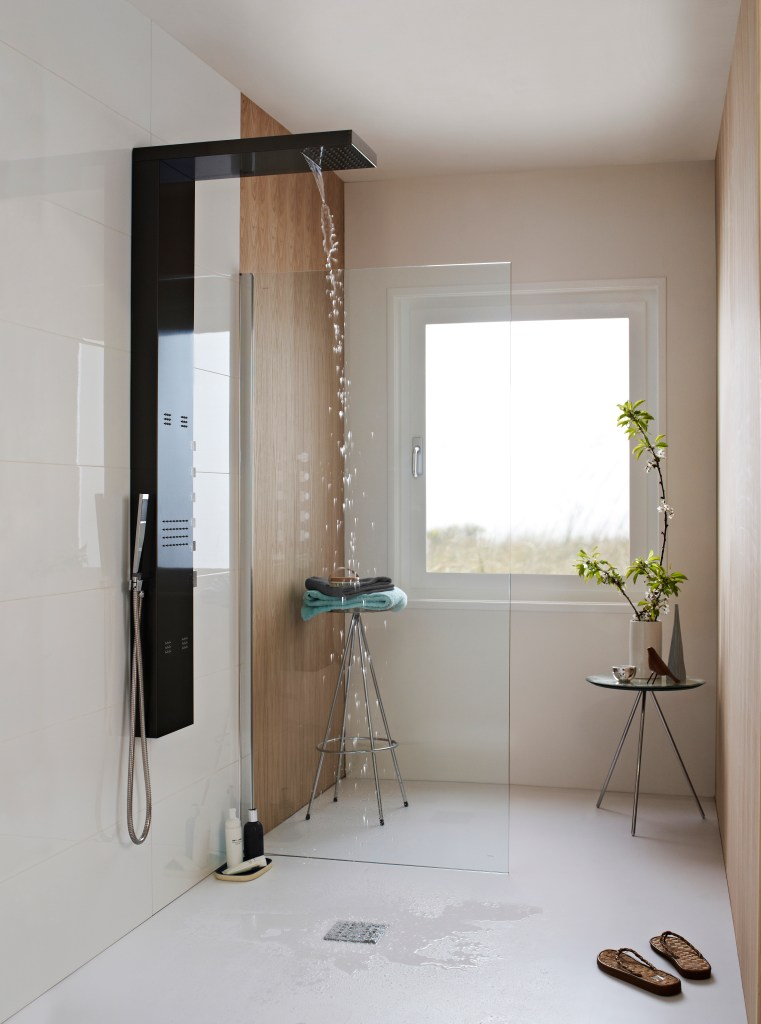 Stunning contemporary wet room bathroom design for a modern home