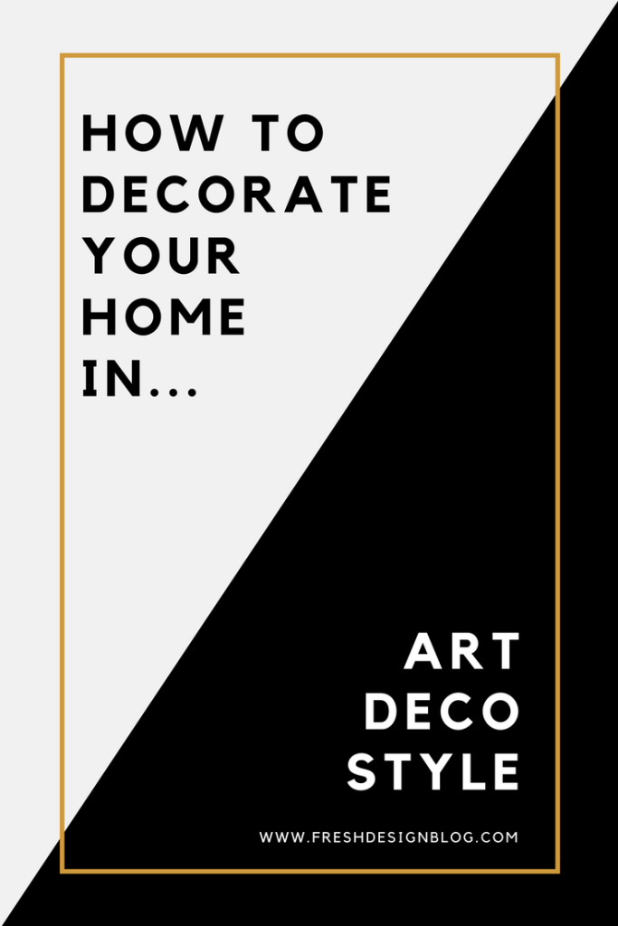 Are you a fan of Art Deco? Discover ideas for decorating your home with this distinctive interior style. Click through for the lowdown.