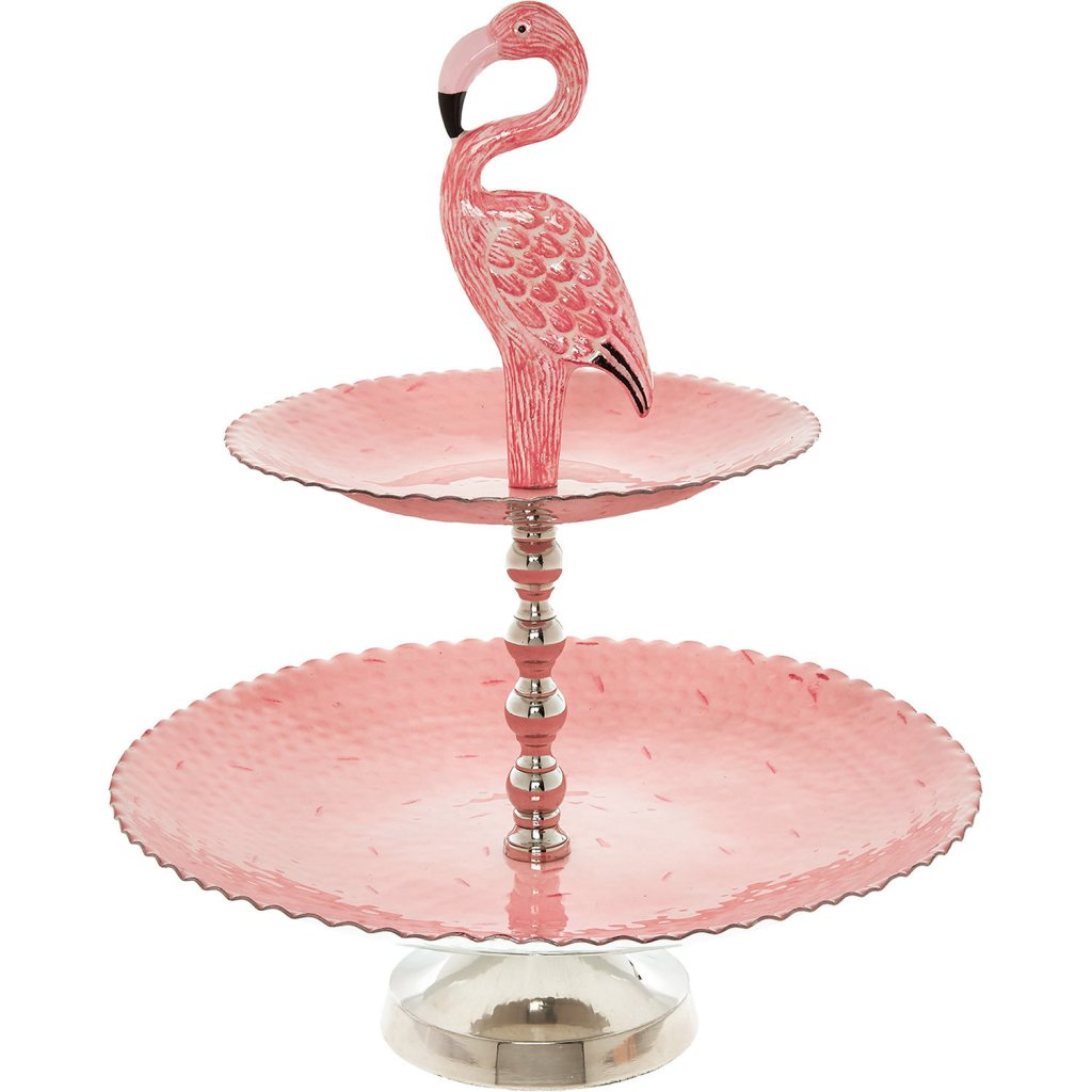 What a fun and quirky way to serve cakes! Love this pink flamingo design cake stand