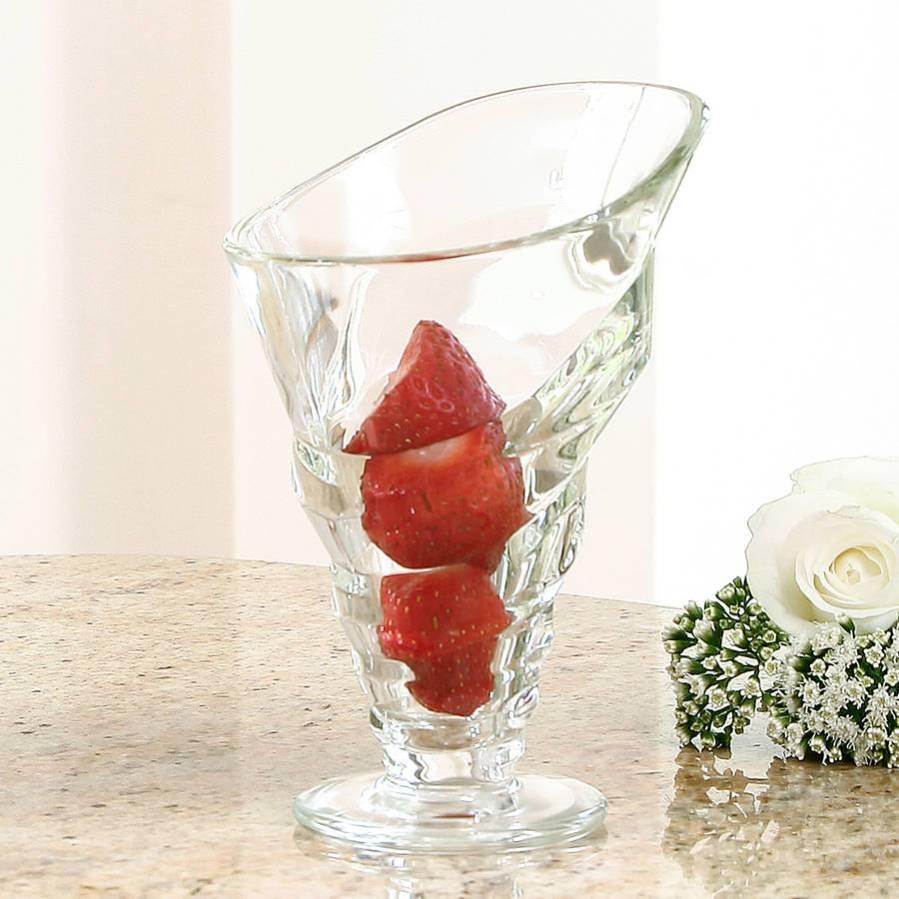 Swivel design ice cream sundae glass from Dibor