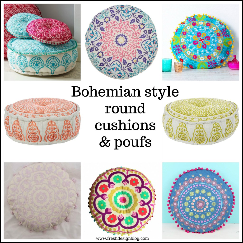 Boho style round cushions and poufs are everywhere this summer. Here's our guide to some of the top homeware picks