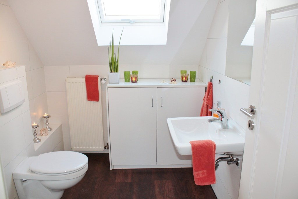 Brighten up your bathroom with colour and plants