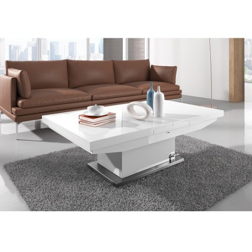 Fabulous modern coffee table that can turn into an extendable dining table!