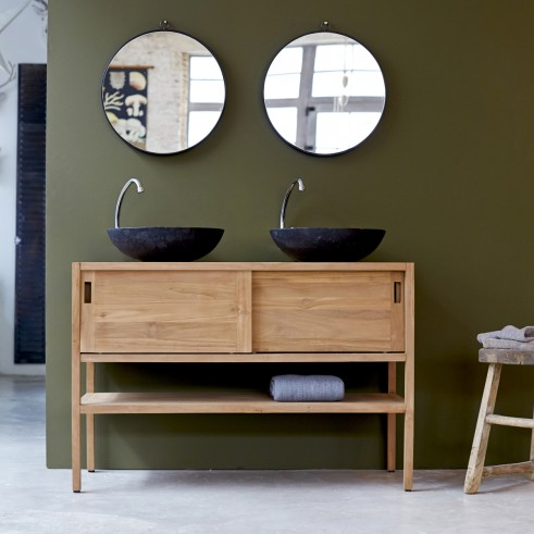 Really lovely solid teak washstand for use in a bathroom