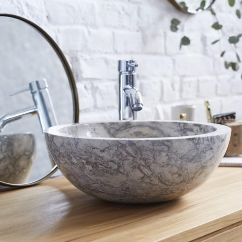 Love this chic and minimalist 100% natural marble stone washbasi