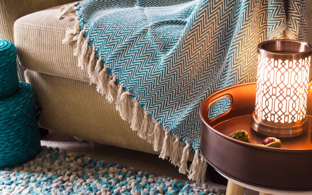 Cosy up your living room for winter with a throw