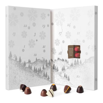 A luxury chocolate advent calendar for two, with delicious truffles each day